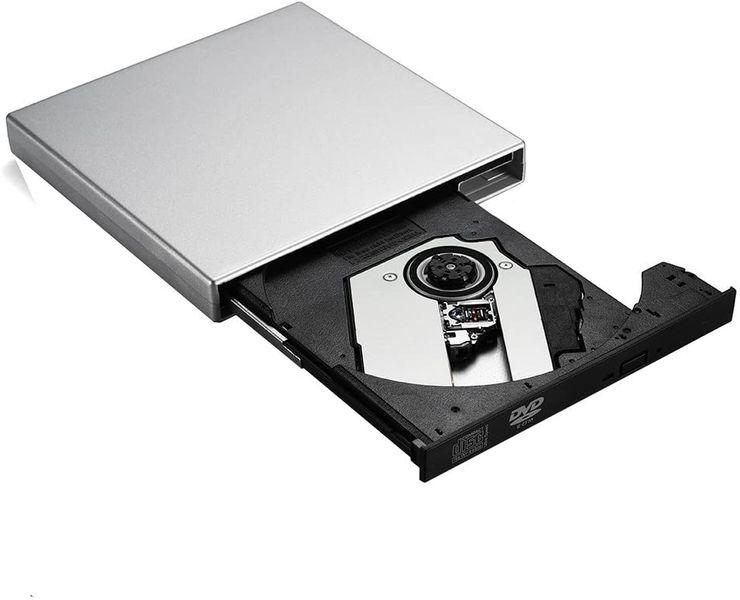 GEEKLIN Patec USB External Optical Drive DVD-R Combo CD-RW Burner Black(CD-RW)-Silver