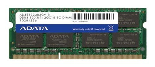 ADATA 2GB DDR3 1333 AD3S1333B2G9-R Laptop Memory