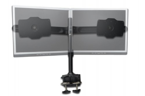 "Digitus dual monitor stand, clamp base, black 20ø swiveling, rotatable 90ø, max. 15kg ""24"" -32 ""TFT, tiltable 15ø"""