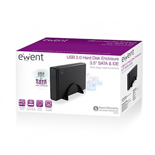Ewent EW7047 Storage drive enclosure 3.5 inch black