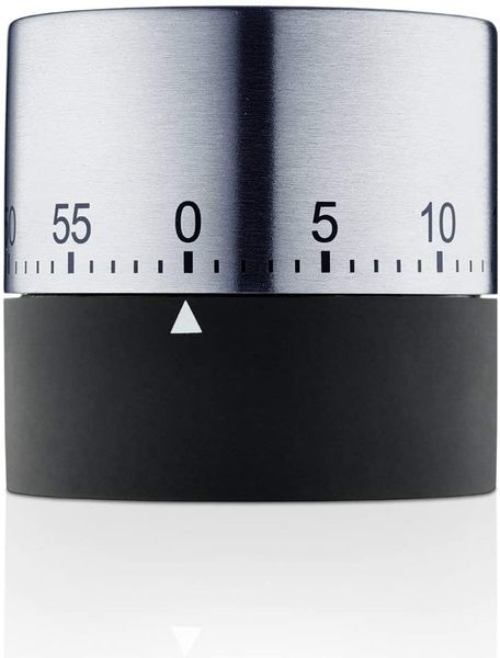 Blomus timer, stainless steel, silver, 6 x 6.2 x 6.2 cm