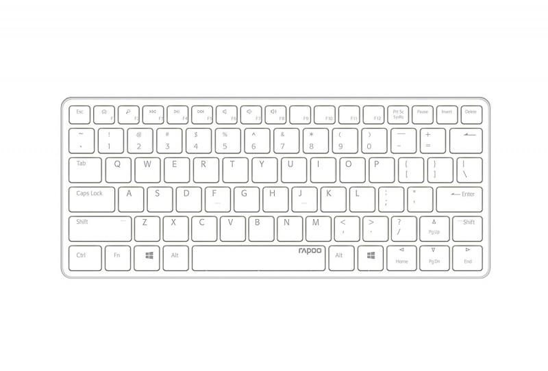 RAPOO E6350 - Bluetooth Ultra-slim Keyboard weiss-silber (DEU Layout - QWERTZ)