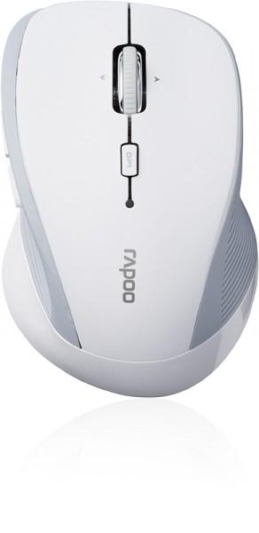 RAPOO 3900P Wireless Mouse, Schnurlose Lasermaus, Weiß