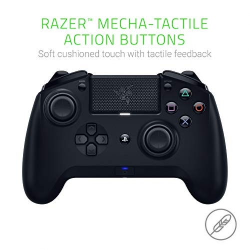 RAZER Raiju Tournament Edition 2019, Wireless and Wired Gaming Controller with Programmable Mecha-Tactile-Action-Buttons and Esports Ergonomics