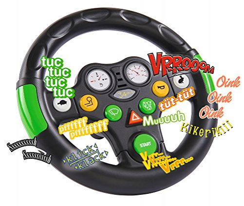 BIG tractor sound wheel steering wheel with different tractor sounds, for Bobby Cars from the year of construction 2010, as well as for BIG tractors, toy steering wheel for children from 1 year