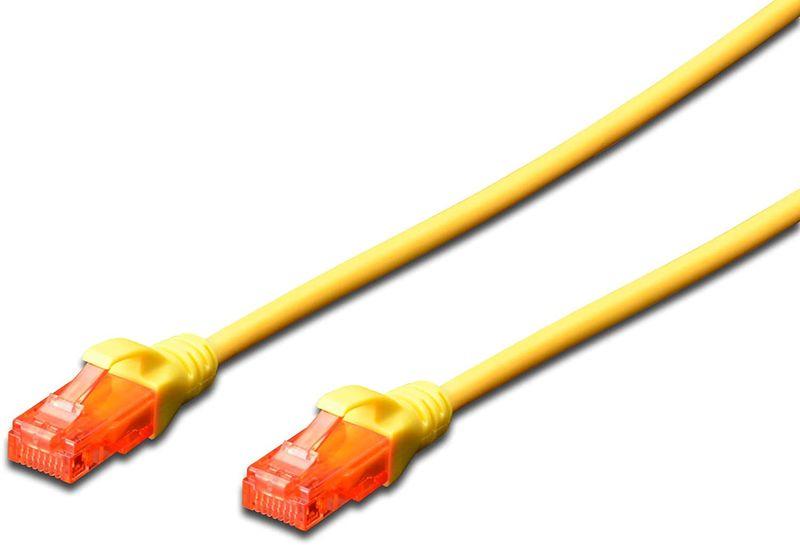 Digitus CAT 6 U-UTP Patchkabel, Cu, LSZH AWG 26/7, Länge 2 m, Farbe Gelb