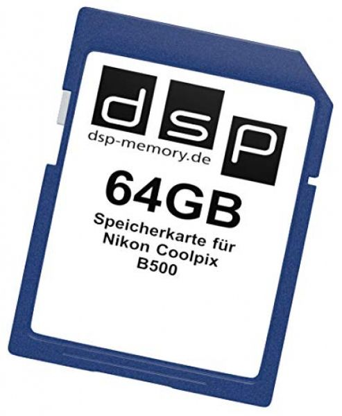 DSPMemory Parent for Nikon Coolpix B500, Black 64GB