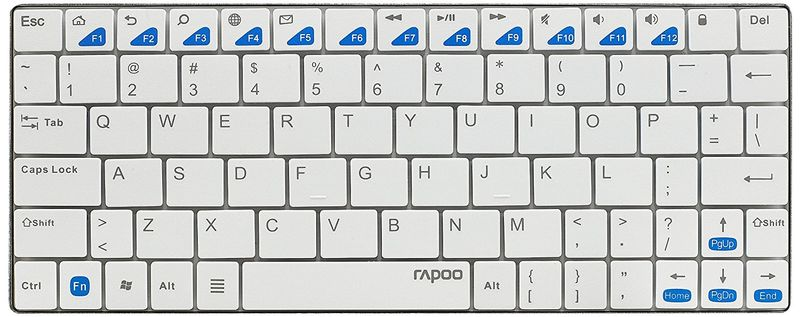 Rapoo E6500 Wireless Ultra-Slim Keyboard for Android white (DEU Layout - QWERTZ)