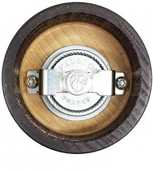Peugeot Fidji manual pepper mill, classic grinder setting, height: 15 cm, wood, 17132, beech wood, matt black