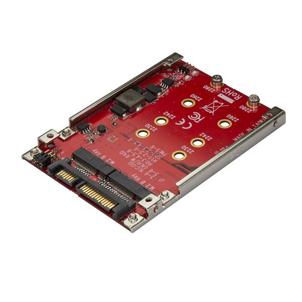 "StarTech.com Dual-Slot M.2 auf SATA Adapter für 2,5"" Laufwerksschacht - RAID"