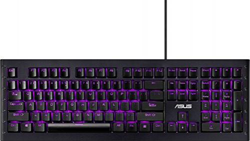 ASUS GK1100 Tastatur USB QWERTZ Deutsch Schwarz