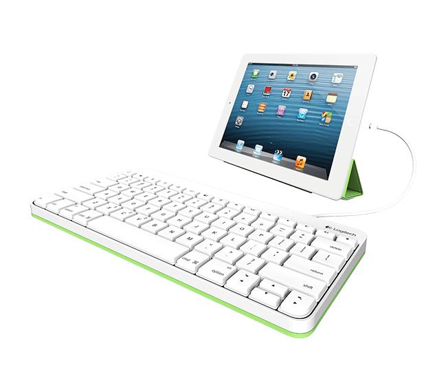Logitech Tastatur für Mobilgeräte Weiß Lightning (NORDIC Layout - QWERTY)