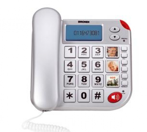 Brondi Super Bravo Plus Analoges Telefon Anrufer-Identifikation Weiß