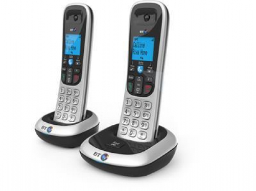 British Telecom BT 2200 Twin DECT-Telefon Schwarz, Silber Anrufer-Identifikation