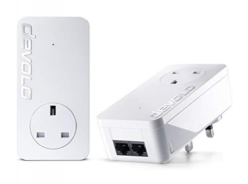 Devolo dLAN 550 duo+ Starter Kit 500 Mbit/s Eingebauter Ethernet-Anschluss Weiß 2 Stück(e) Plug-Type G (UK)