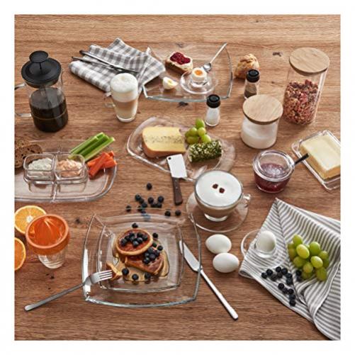 Montana 052645 Set of 6 Coffee Cup, Tea Cup, Coffee Glass, Glass Cup, 250 ml