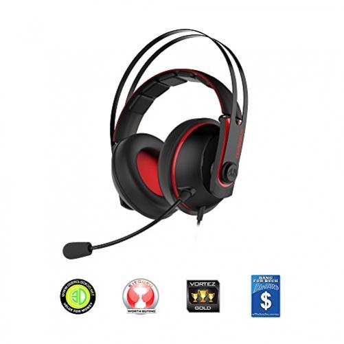 ASUS Cerberus V2 Kopfhörer Kopfband Schwarz, Rot