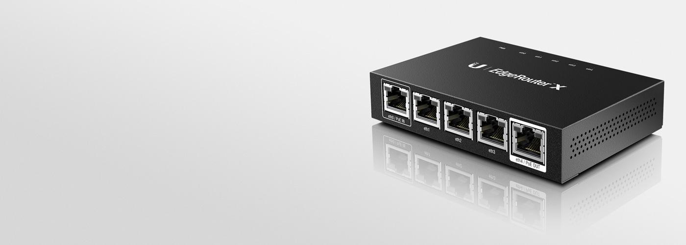 UBIQUITI Networks ER-X Eingebauter Ethernet-Anschluss Schwarz Router