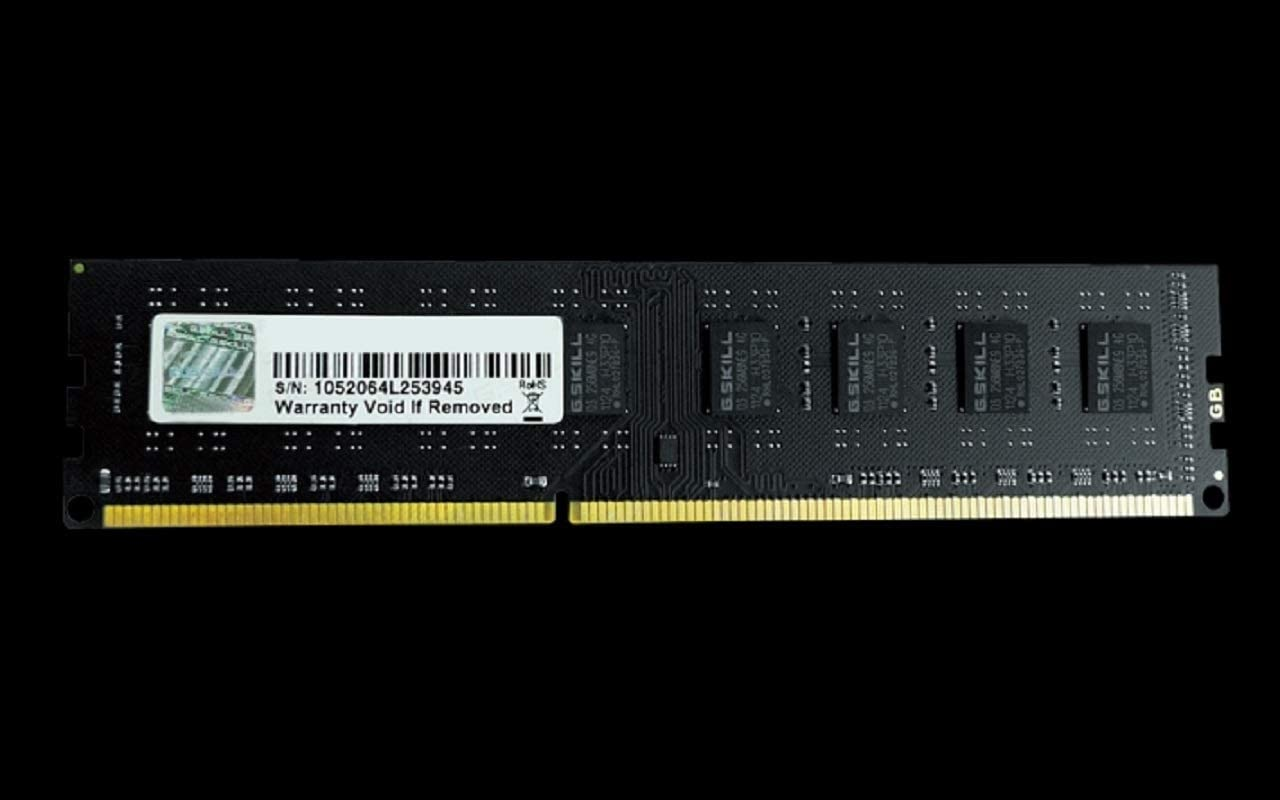G.Skill 4GB DDR3-1600 memory module 1 x 4 GB 1600 MHz