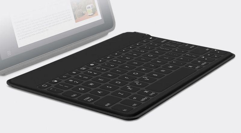 logitech Keys-To-Go Bluetooth Schwarz Tastatur fu00fcr Mobilgeru00e4te (UK Layout - QWERTY) - (GBR Layout - QWERTY)