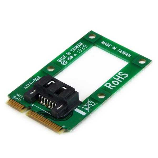 StarTech.com mSATA auf SATA Festplatten / SSD Adapter - Mini SATA zu SATA Konverter