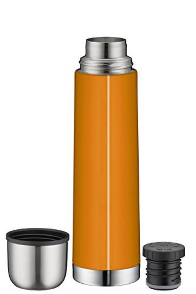 alfi 5457.204.075 Vacuum flask isoTherm Eco, stainless steel orange, 0,75 liter, screw cap, 12 hours hot, 24 hours cold, BPA-Free