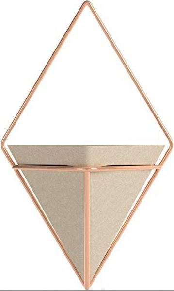 Umbra Trigg wall decoration, metal, concrete / copper, large