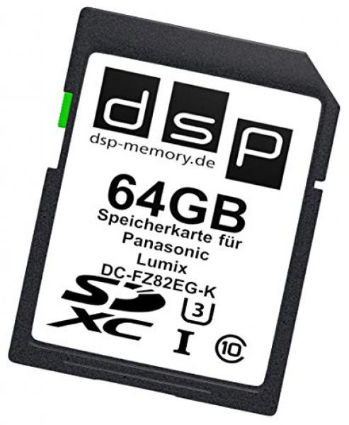 DSP Memory 64GB Ultra Highspeed Speicherkarte für Panasonic Lumix DC-FZ82EG-K Digitalkamera