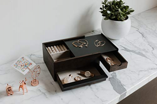 Umbra Stowit Design Jewelry Box - modern jewelry box with secret compartments
