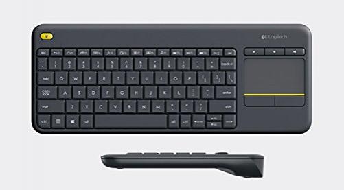 logitech K400 Plus Tastatur RF Wireless Raum Schwarz (NORDIC Layout - QWERTY)