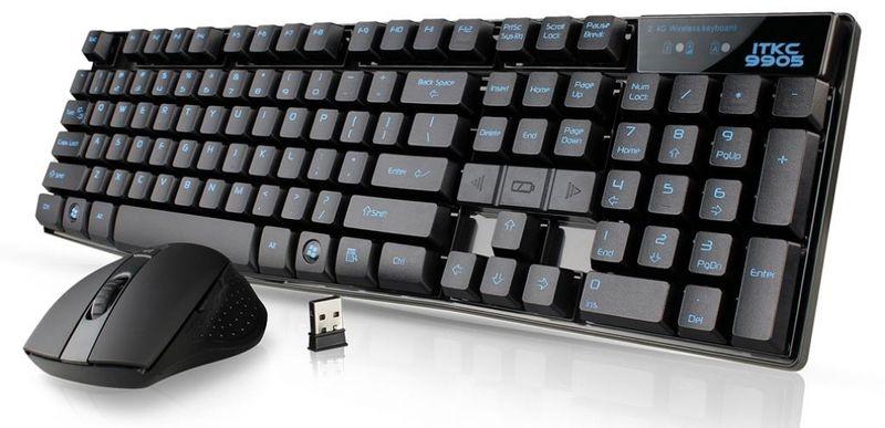 iTek ITKC9905 RF Wireless Schwarz Tastatur (ITA Layout - QWERTY)