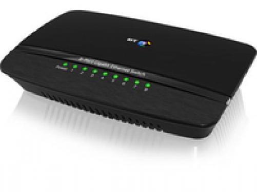 Gadgetcenter BT Gigabit Ethernet-Switch 8 Ports
