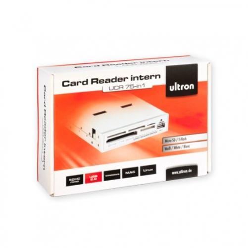 "Ultron Reader UCR 75in1 + USB Port 3.5"" Card Reader White"