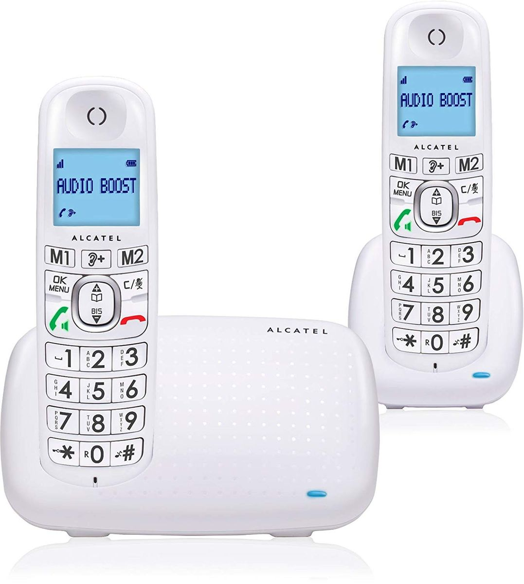 Alcatel XL385 Duo DECT-Telefon Weiß Anrufer-Identifikation