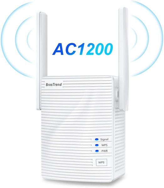 BrosTrend 1200 Mbps WiFi repeater boost signal extender Plug Type G (UK)