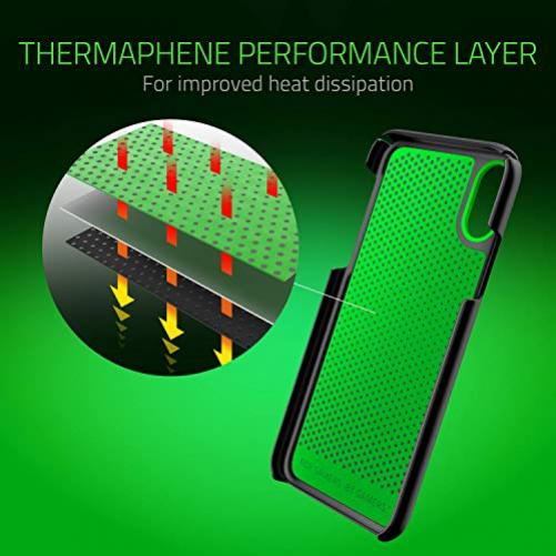 RAZER Arctech Slim Schutzhülle für iPhone XS, Thermaphene und Lüftungsschlitze, kompatibel mit kabellosem Aufladen, Arctech Slim, iPhone XS Max, Matte Black