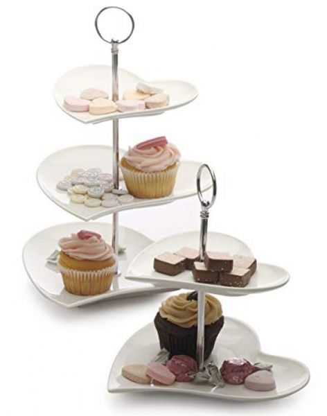 Maxwell & Williams JX57916 Amore Etagere, serving stand, serving plate, 3 levels, in gift box, porcelain / metal