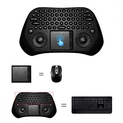 Demiawaking MEasy GP800 USB Wireless Touchpad Luft Maus Tastatur Gamepad fuer Android PC Smart TV (USA Layout - QWERTY)