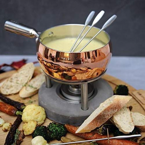 Boska Fondue-Set copper - 1,7 L - suitable for cheese fondue