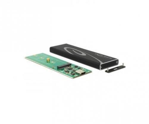 DeLOCK 42574 Speicherlaufwerksgehäuse SSD-Gehäuse Schwarz