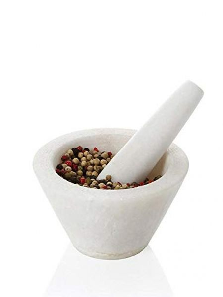 Boska Mortar Spicy/specially for spices/dishwasher safe/granite/white / 100 x 100 x 60 mm