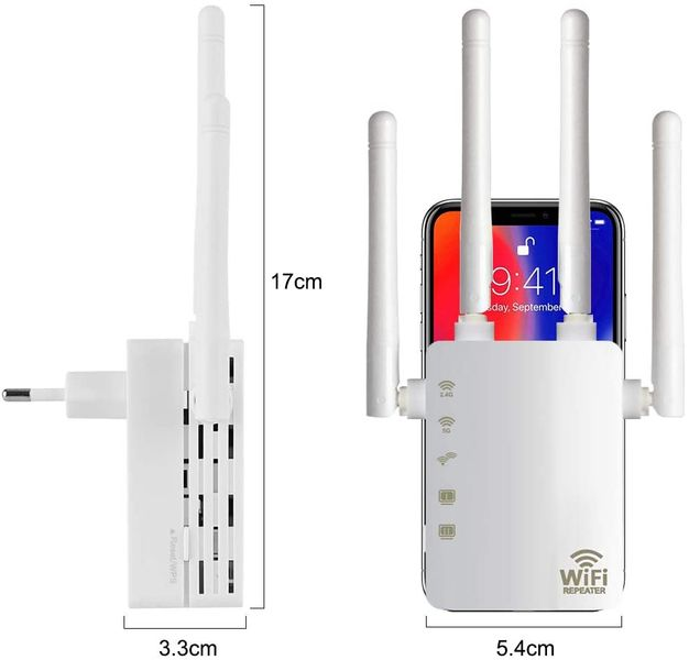 Aigital 1200Mbps Wi-Fi Repeater White