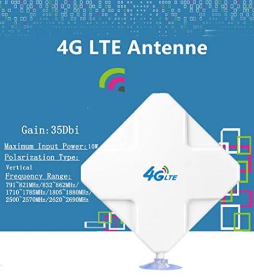 Andven SMA 4G Hochleistungs LTE Antenne, 35dBi WiFi Signal Booster Dual Mimo Netzwerk Ethernet Verstärker, Passend für Telekom Speedport LTE & LTE II, Vodafone B1000 & B2000, EasyBox 904 etc (SMA)