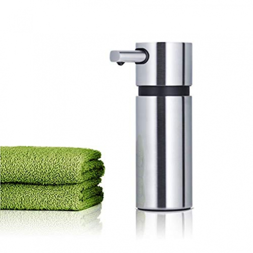 Blomus Areo soap dispenser with a noble look, soap dispenser made of matt stainless steel