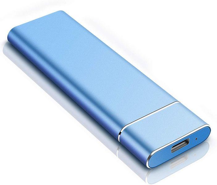 Disque Dur Externe 1to, Disque Dur Externe USB3.1 Type-C Portable pour PC, Mac, Xbox One, MacBook, Desktop, Laptop, Chromebook, Xbox 360(1To,Bleu)