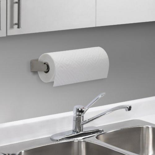 Umbra kitchen roll holder, silicone, metal, nickel, 12 x 6 x 5 cm
