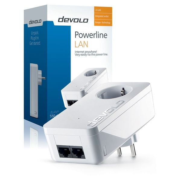 Devolo dLAN® 550 duo+ 500 Mbps Built-in Ethernet connection White 1 unit(s)