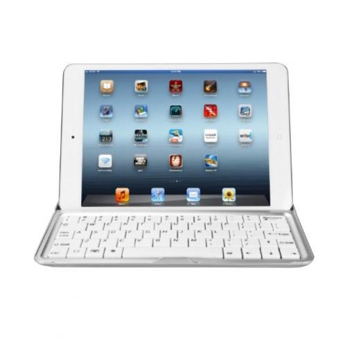 eLifeStore? iPad Aluminium Bluetooth Wireless Keyboard Cover Case Stand for Apple iPad 2 / iPad 3 / iPad 4 4th Generation (with Retina display) - White (USA Layout - QWERTY)
