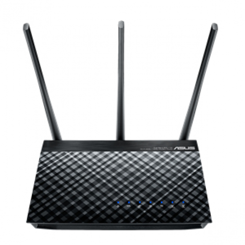 ASUS DSL-AC750 WLAN-Router Dual-Band (2,4 GHz/5 GHz) Gigabit Ethernet Schwarz