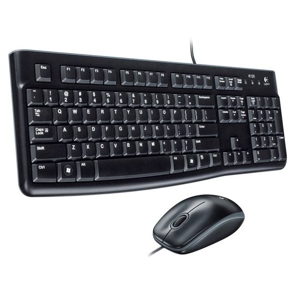 logitech MK120 Desktop Mouse and Keyboard combo Black (ESP Layout - QWERTY)